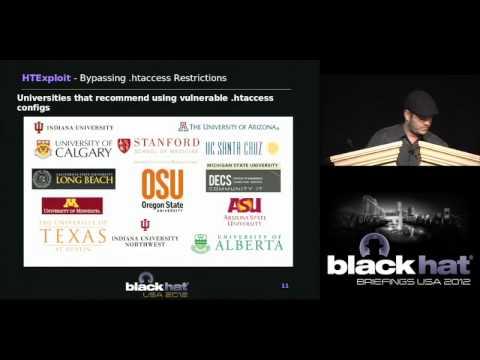 Black Hat USA 2012 - HTExploit Bypassing Htaccess Restrictions