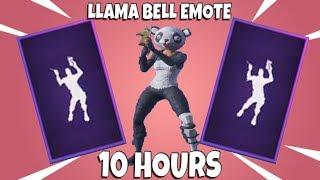 Fortnite llama bell emote with panda skin 10 hours