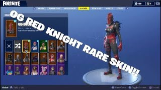 RARE FORTNITE ACCOUNT SHOWCASE ONE OF THE RAREST SKINS!!!!! RED KNIGHT!!!!