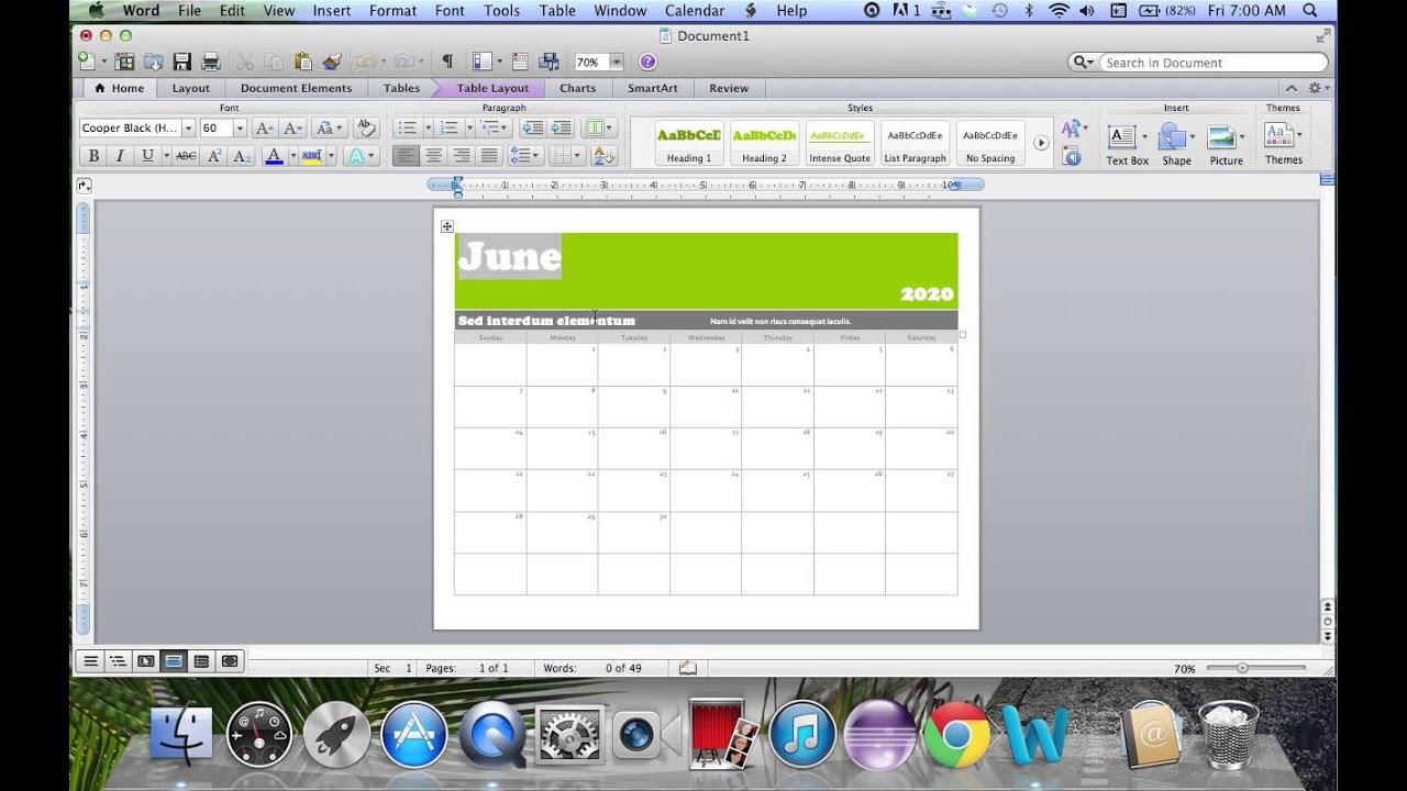 how to make a calendar on mac