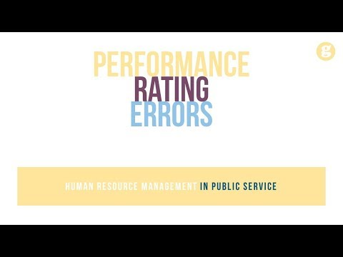 Performance Rating Errors