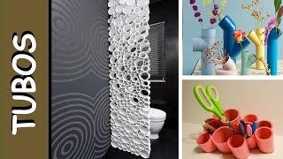 Top 100 Ideias Incríveis de decoração com canos de PVC – Araras, moveis e organizadores