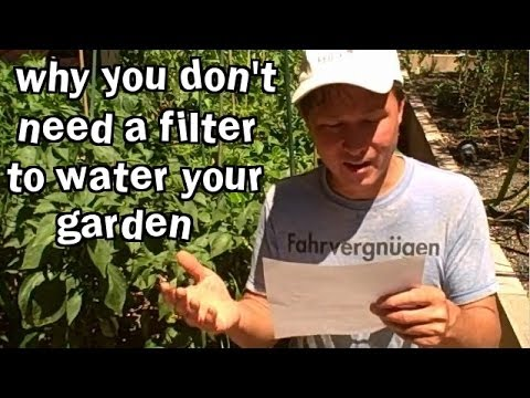 Why You Don't Need a Filter to Water Your Garden