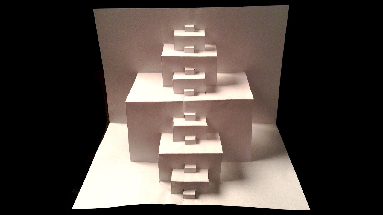 Amazing 3d paper steps youtube for How to make a paper design
