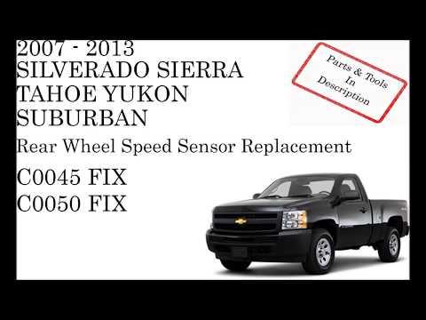 C0045 CHEVROLET Left Rear Wheel Speed Sensor Circuit