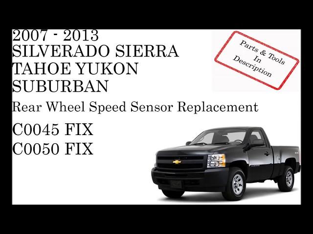 C0050 CHEVROLET Right Rear Wheel Speed Sensor