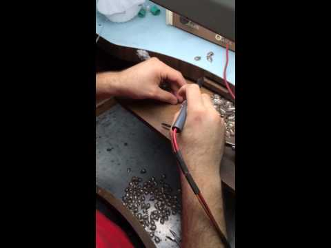 Soldering of earrings by Gold Craft Jewelry