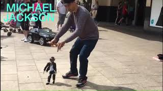 Michael Jackson dance :- Street Talent Puppet Show