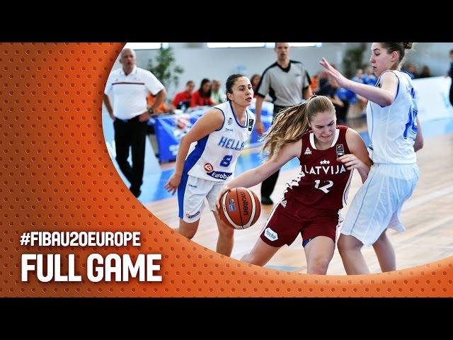 EOK | Live  ο αγώνας ΕΛΛΑΔΑ - Λετονία  (18:15, 10.07.2016) (Ευρωπαϊκό Πρωτάθλημα Νέων Γυναικών, 2η αγωνιστική  - Ματοσίνιος, Πορτογαλία)