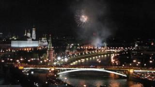 Москва Праздничный салют в честь Дня Победы 9 мая 2017