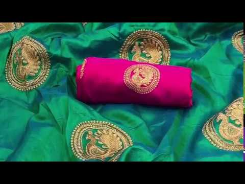 701afd8f0 TWO TONE SANA SILK SAREES   BANGLORE SILK BLOUSE   RV Collections ...