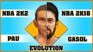 PAU GASOL evolution [NBA 2K2 - NBA 2K18]