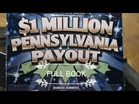 $600 FULL BOOK Winners revealed. $1 Million Pennsylvania Payout.  PA LOTTERY SCRATCH TICKETS.