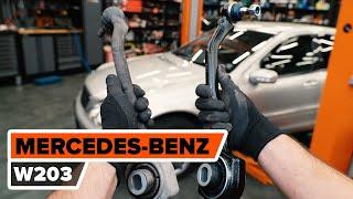 Hvordan udskiftes bærebru foran til MERCEDES-BENZ W203 C-Klasse [UNDERVISNINGSLEKTIONER AUTODOC]