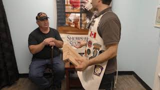 Rob Cosman interviews Wounded Vet Vic