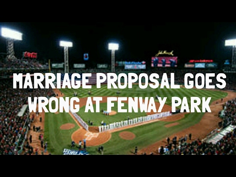 Proposal Gone Wrong Man Proposes At Red Sox Game And She Said No