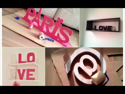 Como fazer letras decorativas gastando pouco 3 maneiras - Como hacer letras decorativas ...