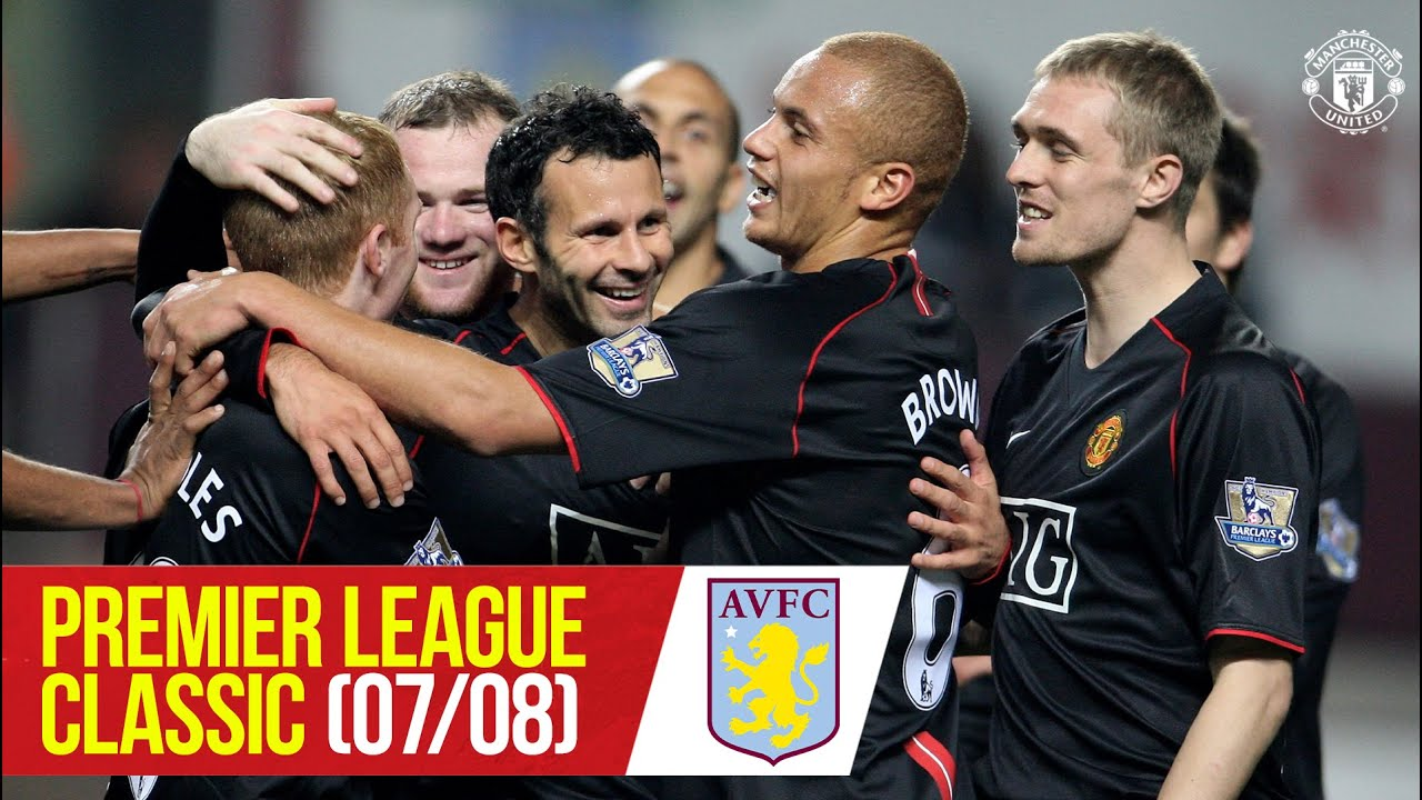 PL Classics (07/08)   Rooney double helps United sink 9-man Villa   Aston Villa v Manchester United