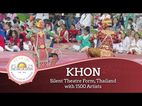 150 Dancers Perform The Ramakien(Thai Ramayana)   World Culture Festival   Art Of Living Anniversary
