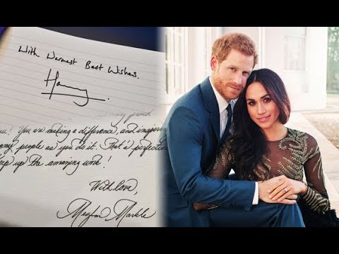 "Prince Harry and Meghan Markle handwriting styles show they have ""opposite"" personalities"