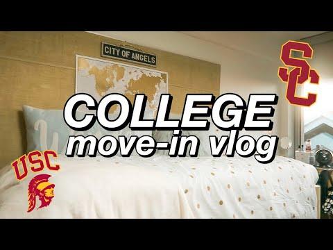 USC FRESHMAN YEAR DORM MOVE-IN VLOG