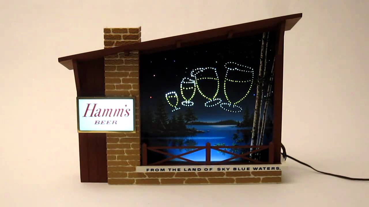 Hamm S Beer Sign Circa 1960 Youtube