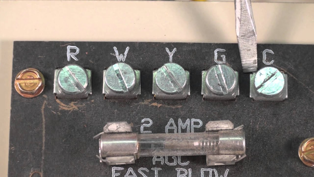 What the terminals on the furnace terminal board mean  YouTube