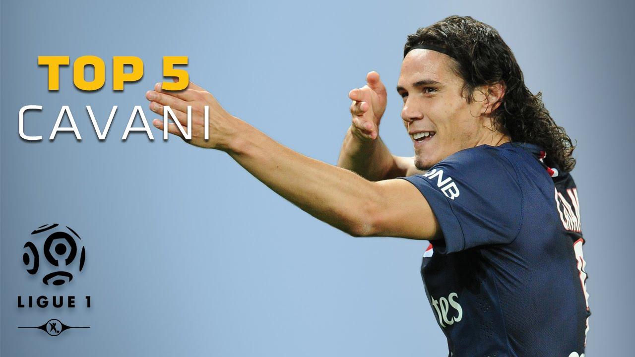 Edinson Cavani Top 5 Buts Ligue 1 Paris Saint