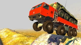 High Speed Jumps/Crashes 4k Compilation #58 - BeamNG Drive Satisfying Car Crashes