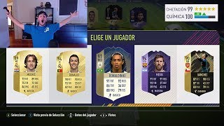 RONALDINHO ICONO EN MI MEJOR FUT DRAFT !!!! FIFA 18