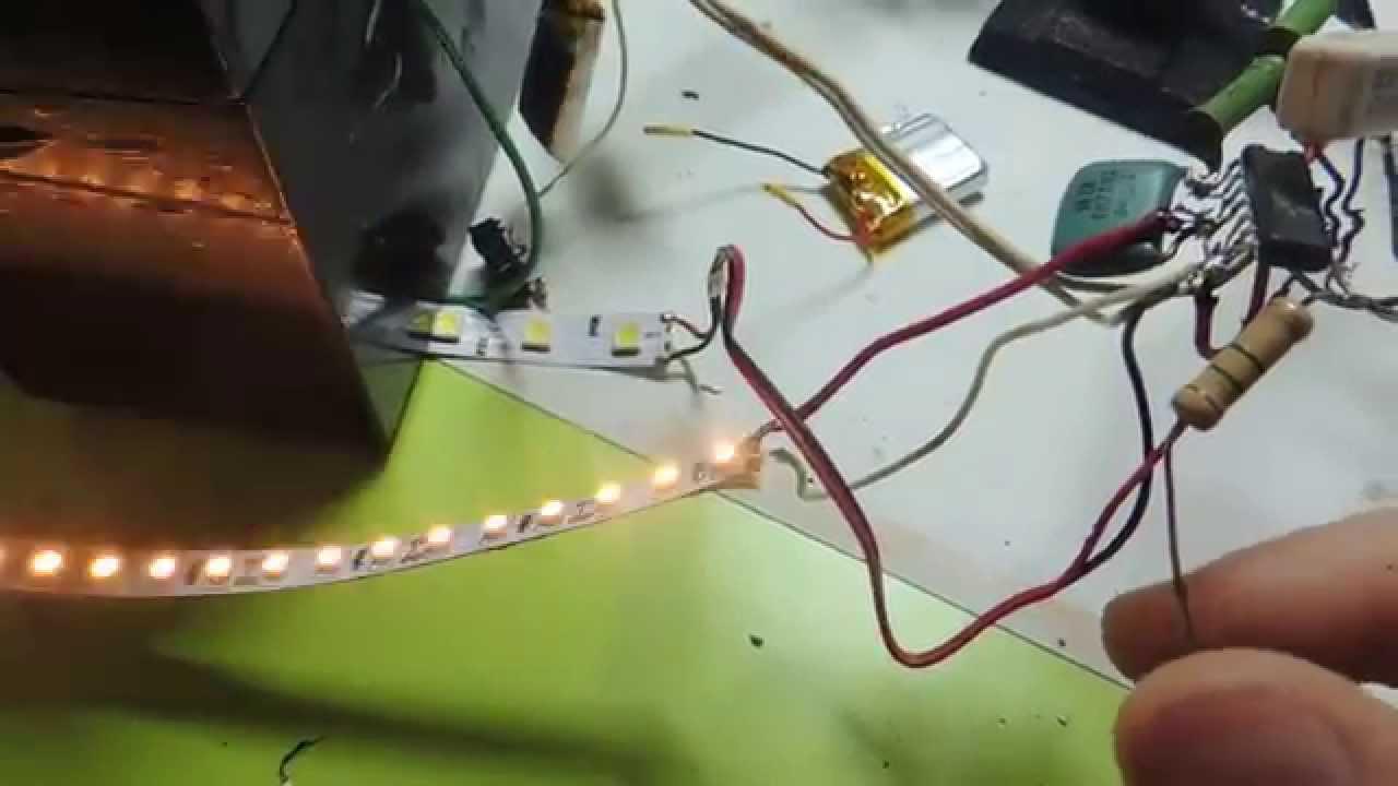 Стробоскоп! Мигалка на к561ла7 + сенсорное управление! ч-2
