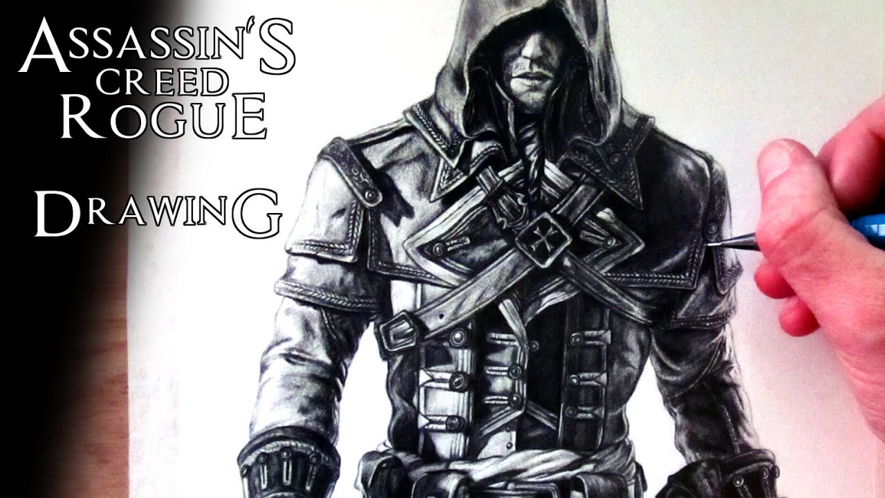 Assassin S Creed Rogue Shay Patrick Cormac Drawing Fan Art Time Lapse Youtube