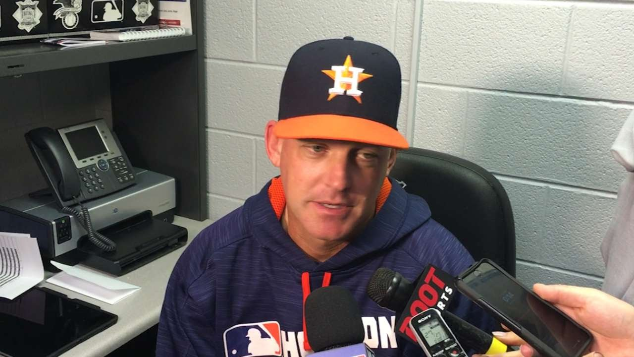 Astros manager AJ Hinch denies he was involved in altercation after police respond to team hotel