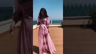 G 2331 Платье-двойка вечернее из сарафана и гипюровой накидки вышитой пайетками video