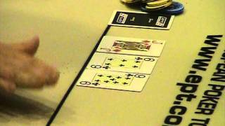 European Poker Tour Loutraki Final Table: Διπλασιασμός για τον John Taramas(O John Taramas διπλασιάζει και αφήνει short stacked τον Hauke Heseding. Το τουρνουά είναι το European Poker Tour Loutraki όπου βρέθηκαν πολλ..., 2011-11-20T19:08:46.000Z)