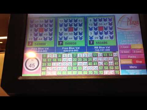 Bingo coverall game at The Plaza in Las Vegas