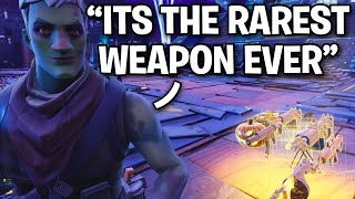 I FINALLY got my hands on the RAREST WEAPON ever! 😱🤡 (Scammer Get Scammed) Fortnite Save The World