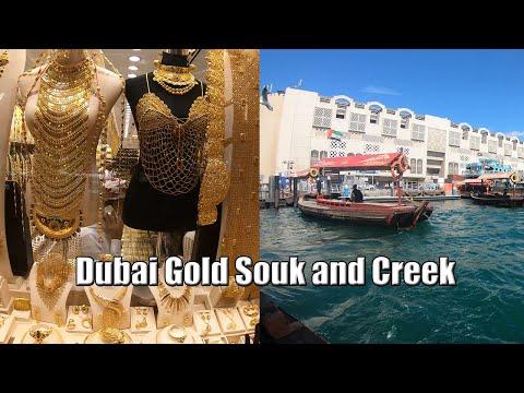 Bargain Gold –  Dubai Gold Souk with Dubai Creek Crossing by Abra