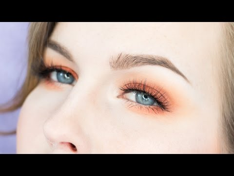 Orange Eye Makeup For Blue Eyes