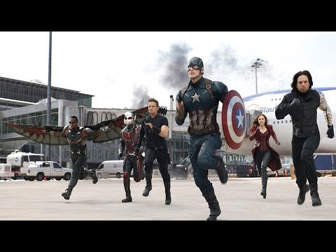 Битва Мстителей в Аэропорту. (Первый Мститель: Противостояние)    Моменты из фильмов