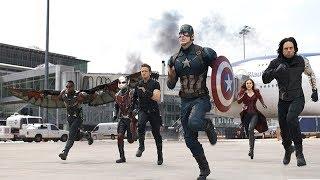 Битва Мстителей в Аэропорту. (Первый Мститель: Противостояние) |  Моменты из фильмов