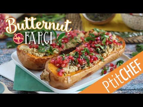 recette-de-butternut-farci-au-quinoa,-coriandre-et-grenade---ptitchef.com