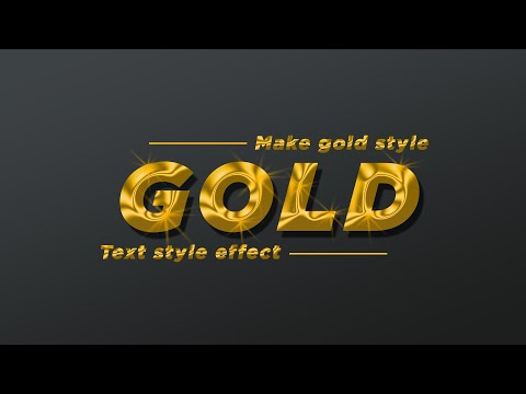 Photoshop Tutorial Gold Text Style Effect