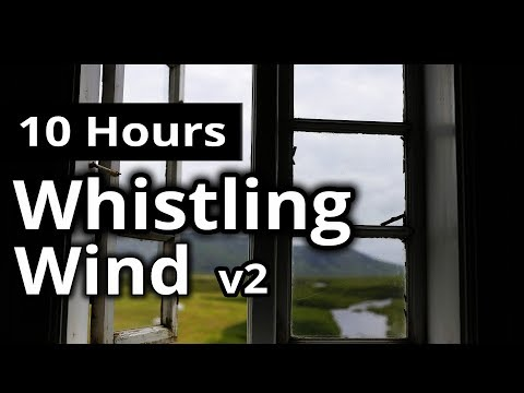 WIND SOUNDS - Wind Whistling through a Window - SLEEP SOUNDS for Relaxing, Ambience, White Noise