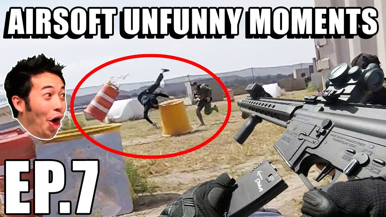 Airsoft Unfunny Moments 07 - More Falling, Memes, and Lots of Flatulating!