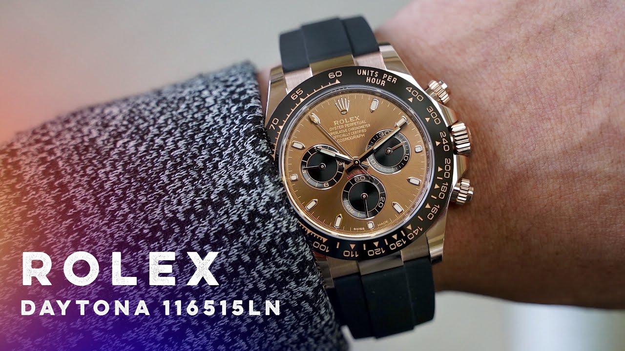 逼近百萬金沙巧克力.勞力士DAYTONA玫瑰金計時碼錶/ROLEX - YouTube