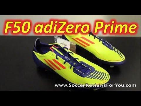 Adidas F50 adizero Prime Electricity/Infrared/Anodized Purple - UNBOXING