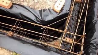 Армирование ленточного фундамента(Дом 9 на 11 метров. Как я делал армирование перед заливкой бетона. Глубина траншеи 120 см, ширина 40 см. . На глуб..., 2016-06-19T17:52:34.000Z)