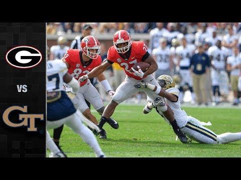 Georgia vs. Georgia Tech Football Highlights (2017)