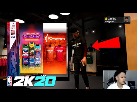 NBA 2K20 NEW WNBA CLOTHING IN NBA STORE NEW PLAYOFF SHIRTS FOR WNBA COURT CONQUEROR THIS FRIDAY 2K20